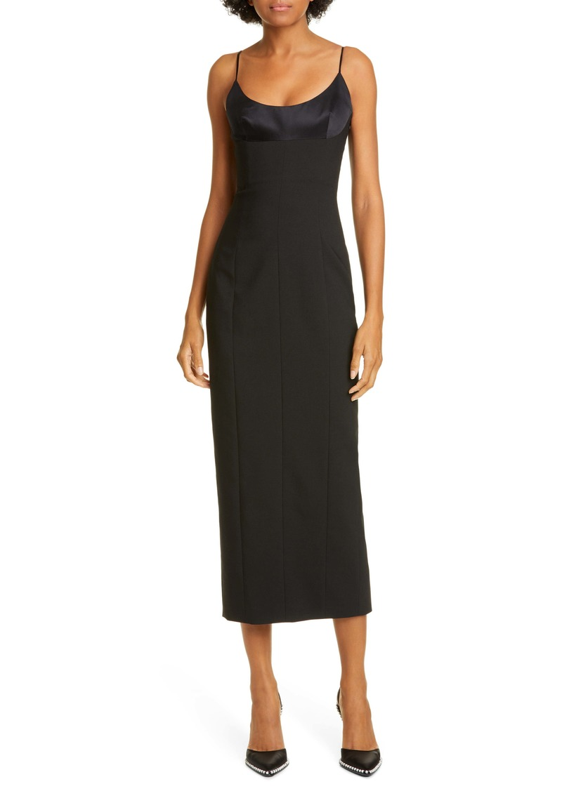Alexander Wang Satin Bodice Midi Dress