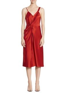 Alexander Wang Satin Knot Midi Dress