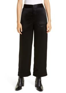 Alexander Wang Satin Pajama Crop Pants