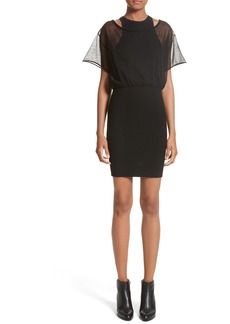 Alexander Wang Sheer Popover Knit Dress