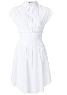 Alexander Wang shirt dress with elasticated waistband - White