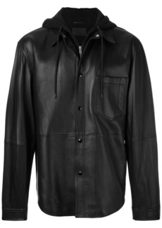 Alexander Wang shirt jacket with hood - Black