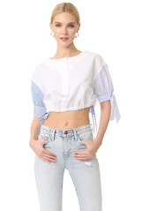 Alexander Wang Short Sleeve Cropped Shirt