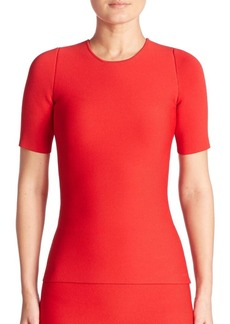 Alexander Wang Short Sleeve Lace-Up Pullover