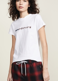 Alexander Wang Short Sleeve T-Shirt with Logo Decal