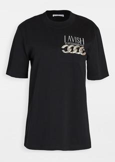 Alexander Wang Short Sleeve T-Shirt with Print & Chain