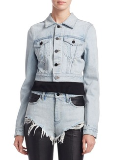Alexander Wang Shrunken Denim Jacket