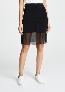 Alexander Wang Skirt With Mesh Underlay