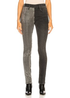 Alexander Wang Slim Slouch with Studded Paneled Leg