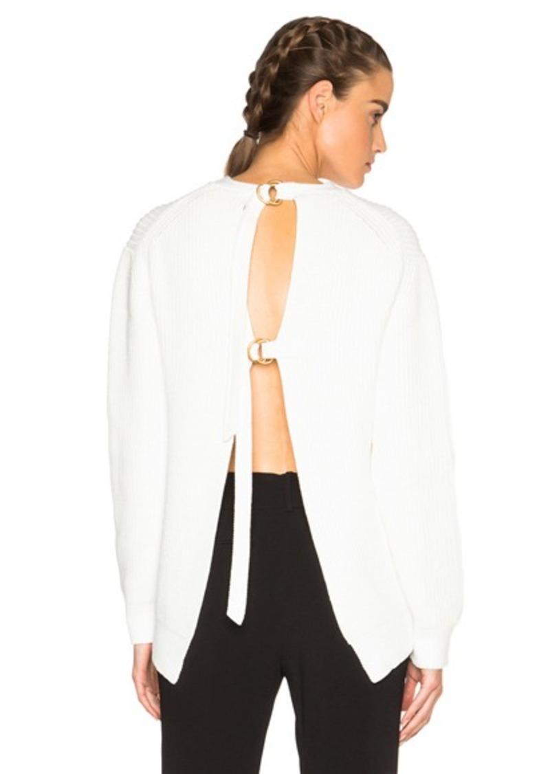 Alexander Wang Slit Back Pullover Sweater
