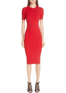 Alexander Wang Snap Sleeve Body-Con Midi Dress