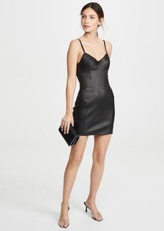 Alexander Wang Stretch Leather Little Black Dress