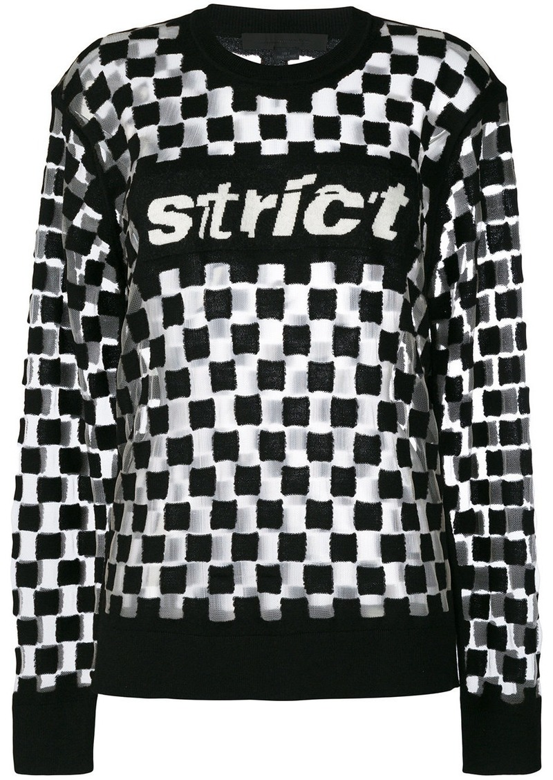 Alexander Wang strict check jumper