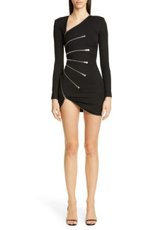 Alexander Wang Sunburst Zipper Long Sleeve Minidress