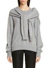Alexander Wang Tie Shoulder Wool & Cashmere Blend Sweater