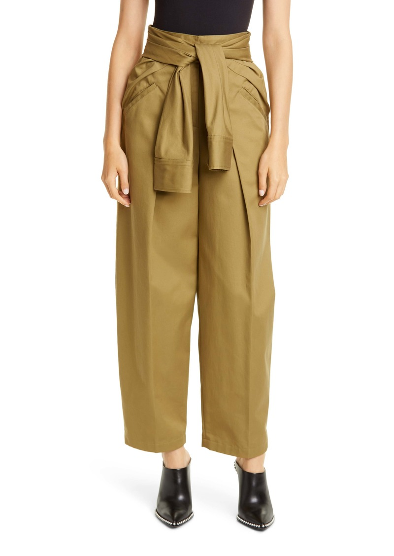 Alexander Wang Tie Waist Cotton Trousers