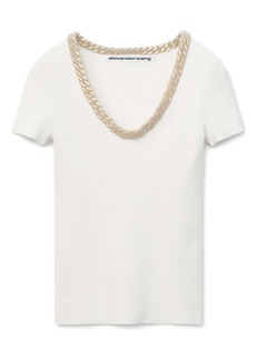 Alexander Wang Trapped Chain Trim Sweater