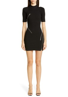 Alexander Wang Travelling Zipper Body-Con Minidress