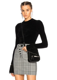 Alexander Wang Turtleneck Sweater with Ruffle Sleeves