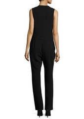 Alexander Wang Tuta Wrap-Front Tailored Jumpsuit