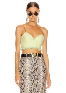 Alexander Wang Tweed Bra Chain Strap Top