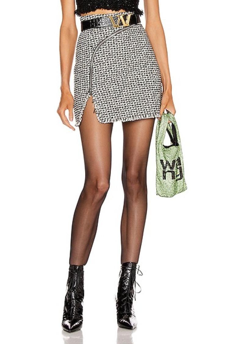 Alexander Wang Tweed Zipper Mini Skirt
