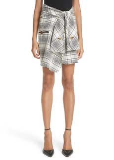 Alexander Wang Twist Front Detail Tweed Skirt