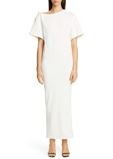 Alexander Wang Twisted Shoulder Tricot T-Shirt Dress