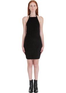 Alexander Wang Velour Halter Dress In Black Tech/synthetic