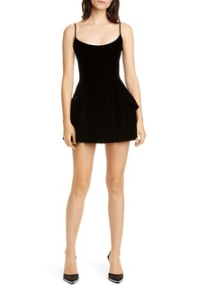 Alexander Wang Velvet Fit & Flare Minidress