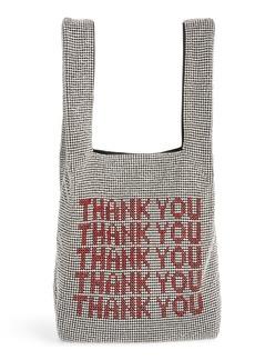 Alexander Wang Wanglock Thank You Crystal Embellished Shopper