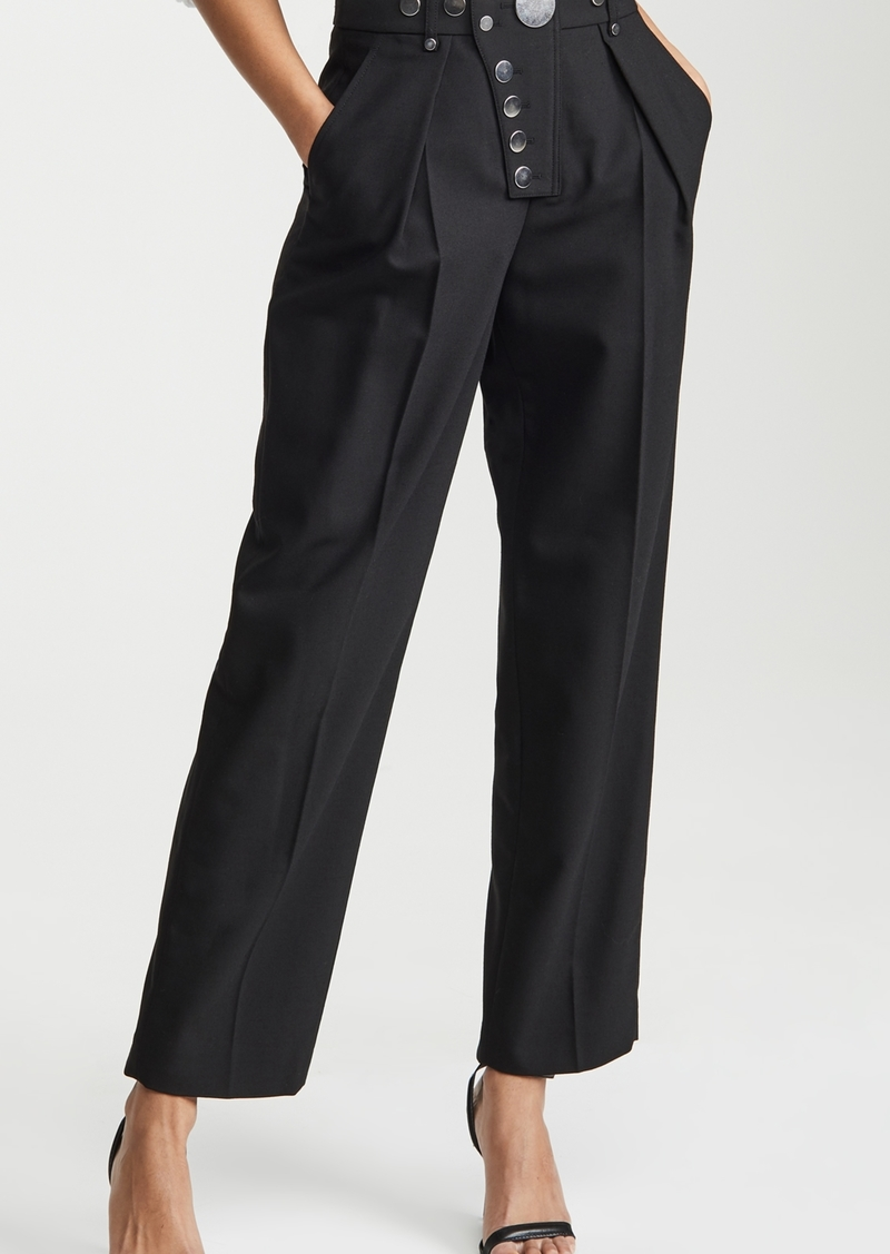Alexander Wang Wide Leg Snap Placket Trousers