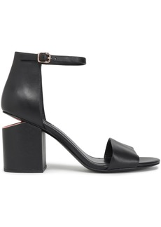 Alexander Wang Woman Abby Leather Sandals Black