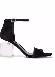 Alexander Wang Woman Abby Suede And Lucite Sandals Black