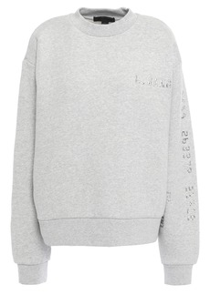 Alexander Wang Woman Appliquéd Cotton-blend Fleece Sweatshirt Light Gray