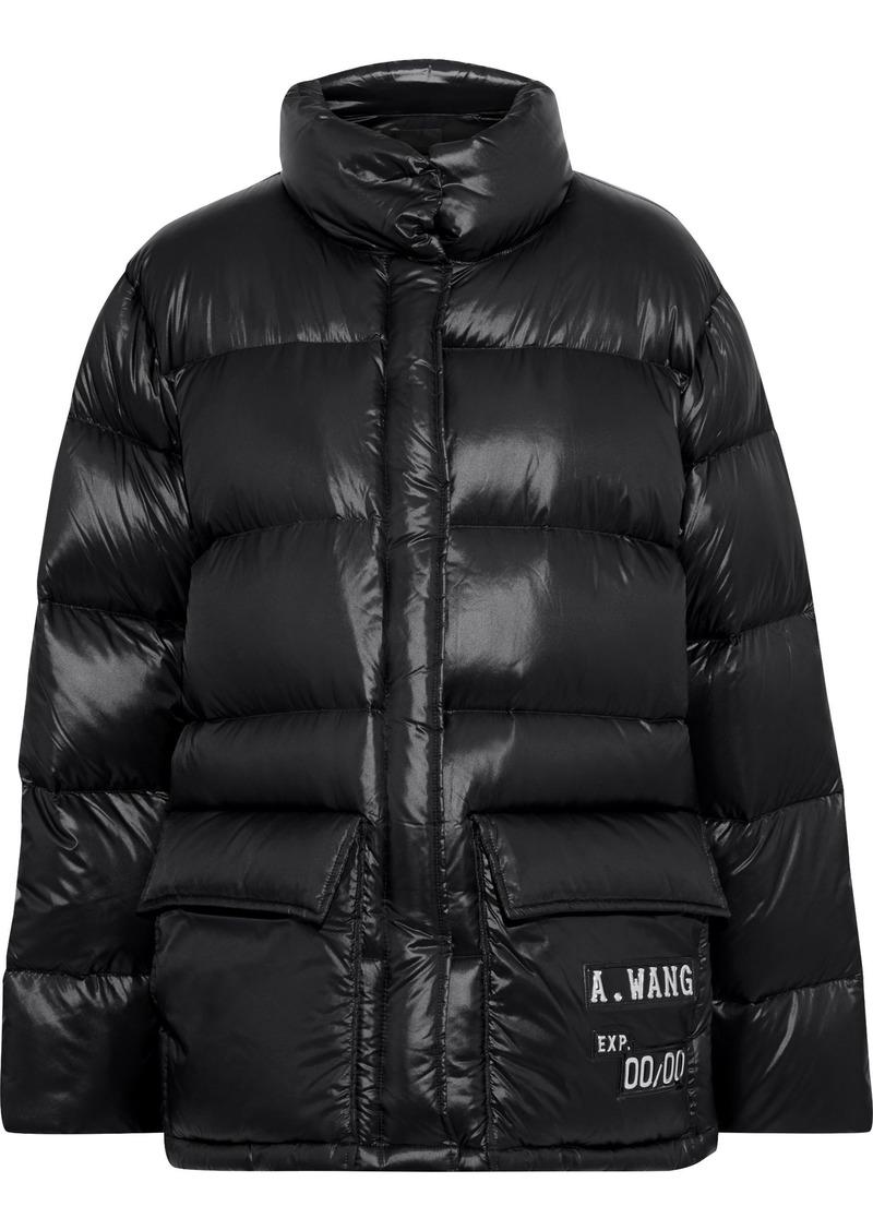 Alexander Wang Woman Appliquéd Quilted Shell Down Coat Black