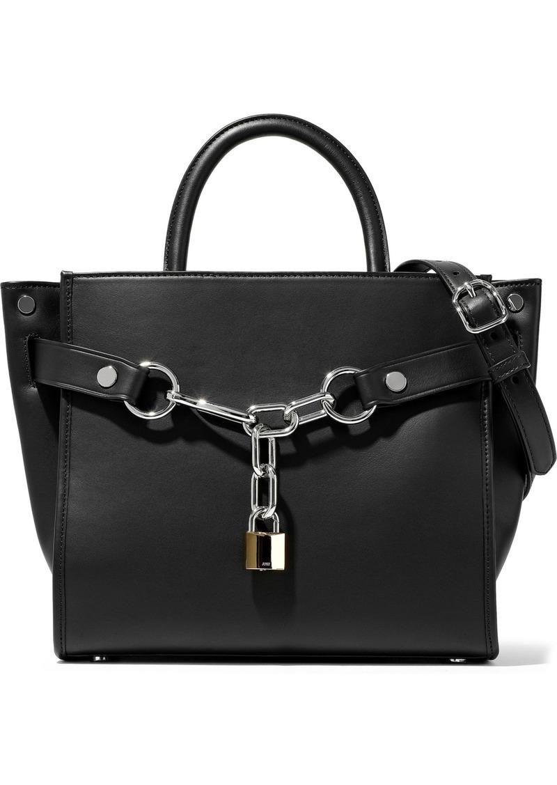 Alexander Wang Woman Attica Chain-embellished Leather Shoulder Bag Black