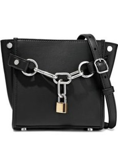 Alexander Wang Woman Attica Chain-embellished Leather Shoulder Bag Black