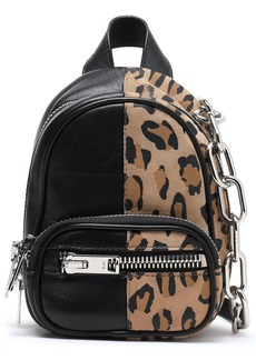 Alexander Wang Woman Attica Leopard-print Suede And Textured-leather Backpack Animal Print
