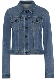 Alexander Wang Woman Axle Printed Denim Jacket Mid Denim