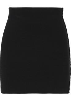 Alexander Wang Woman Bead-embellished Stretch-knit Mini Skirt Black