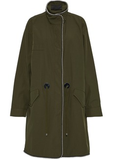 Alexander Wang Woman Bead-embellished Twill Jacket Army Green