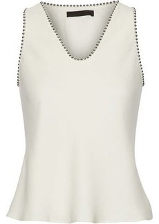 Alexander Wang Woman Bead-trimmed Silk Crepe De Chine Top Ivory