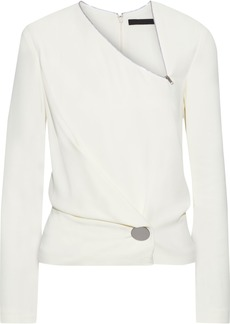 Alexander Wang Woman Button-detailed Draped Cady Top Ivory