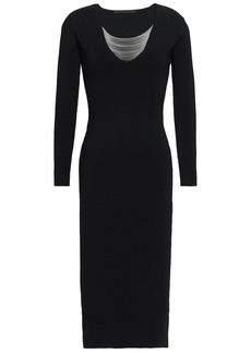 Alexander Wang Woman Chain-embellished Ponte Dress Black