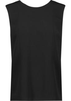 Alexander Wang Woman Chain-trimmed Crepe Top Black