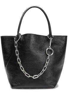 Alexander Wang Woman Chain-trimmed Textured-leather Tote Black