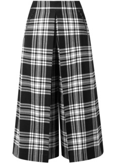 Alexander Wang Woman Checked Wool Culottes Black
