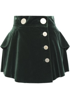 Alexander Wang Woman Cotton-velvet Mini Skirt Forest Green