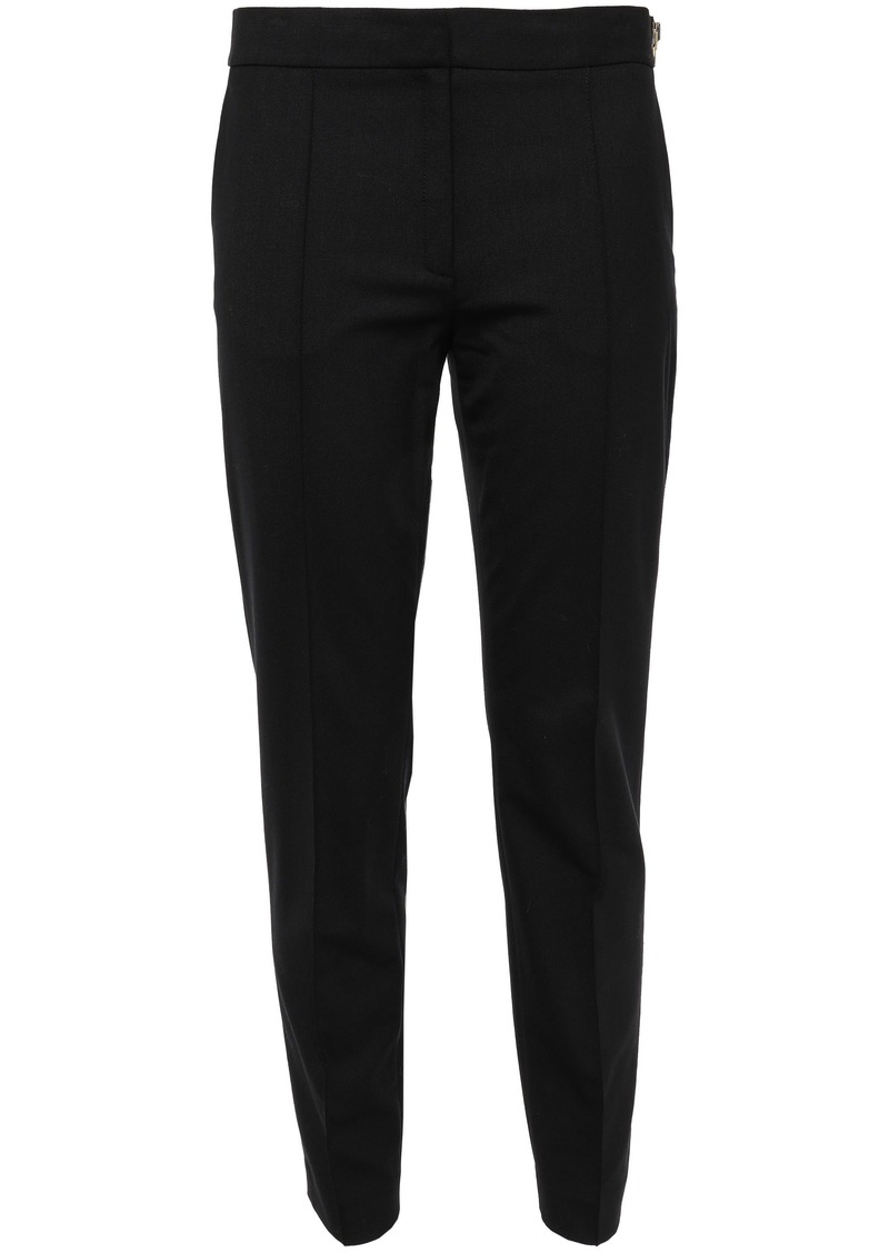 Alexander Wang Woman Cropped Zip-detailed Stretch-twill Skinny Pants Black